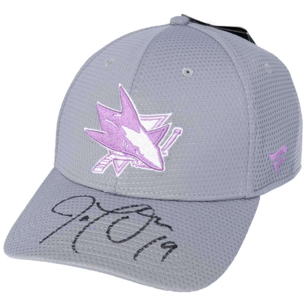 Joe Thornton San Jose Sharks Autographed Hockey Fights Cancer Cap - NHL Auctions Exclusive