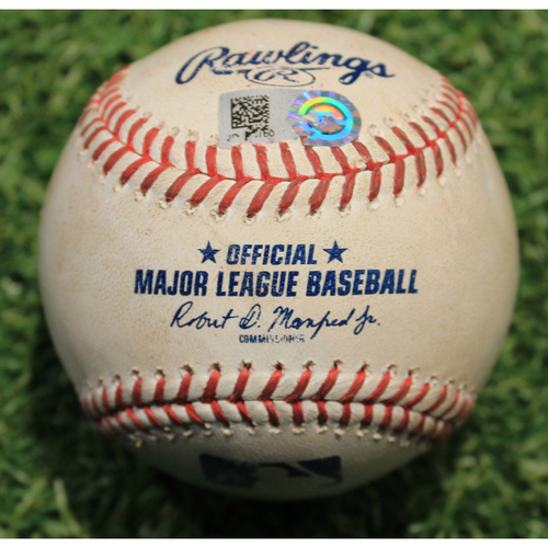 Photo of Game-Used Baseball: Yu Darvish 1,312th Career Strikeout (CHC @ KC 8/5/20)
