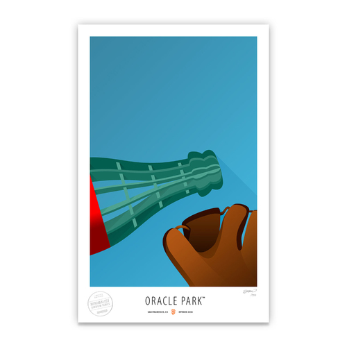Photo of Oracle Park - Collector's Edition Minimalist Art Print by S. Preston Limited Edition /350  - San Francisco Giants