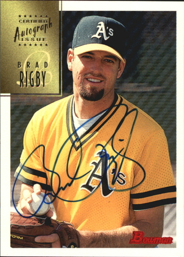 Photo of 1997 Bowman Certified Blue Ink Autographs #CA66 Brad Rigby