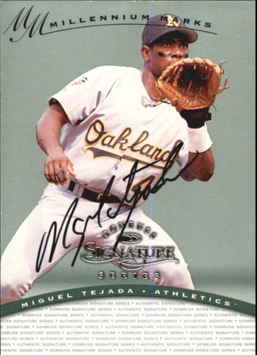 Photo of 1997 Donruss Signature Autographs Millennium #118 Miguel Tejada