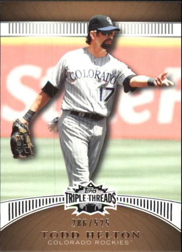 Photo of 2010 Topps Triple Threads Sepia #5 Todd Helton