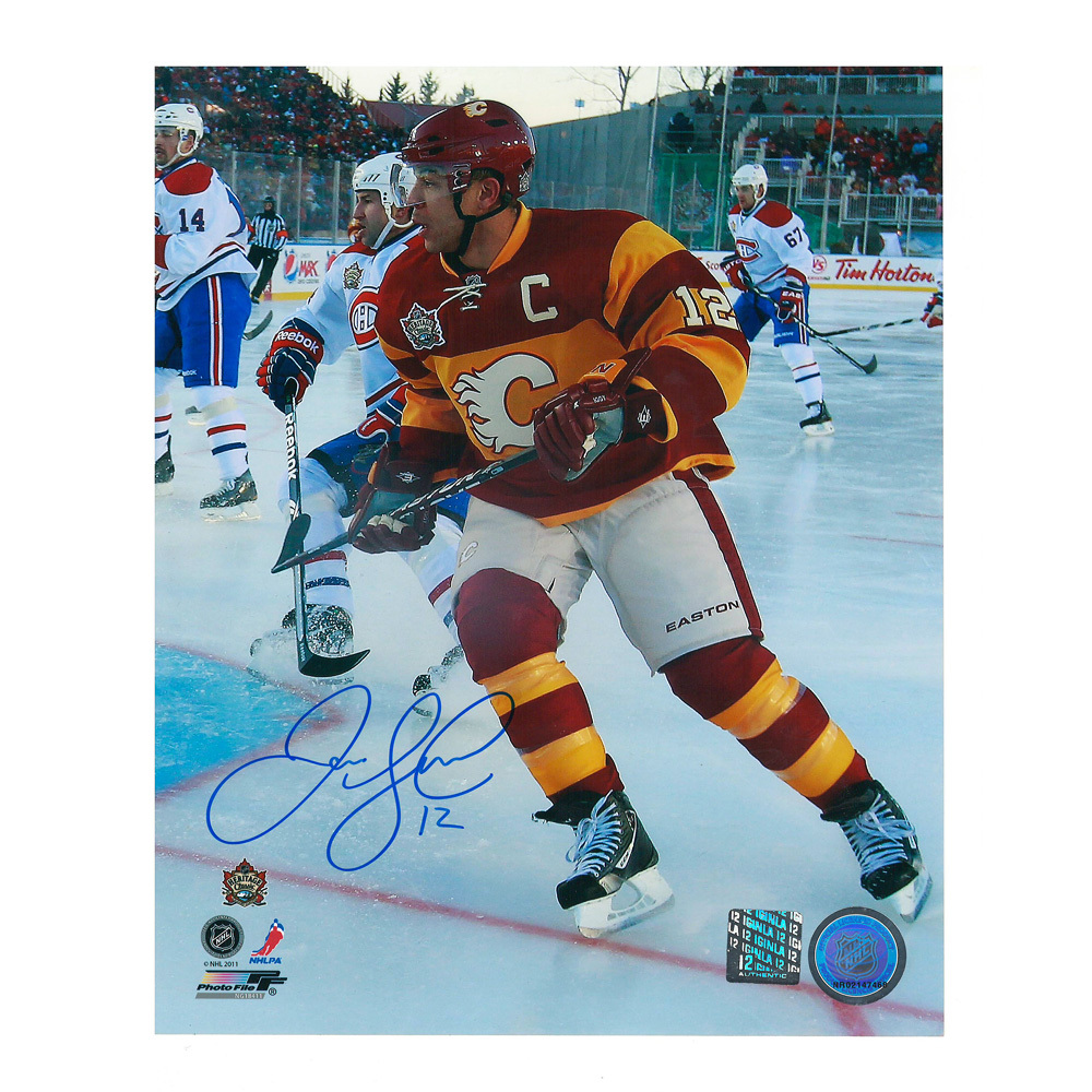 JAROME IGINLA Signed 2011 Heritage Classic Calgary Flames 8 X 10 Photo - 70157