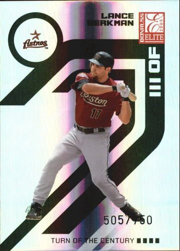 Photo of 2005 Donruss Elite Turn of the Century #74 Lance Berkman