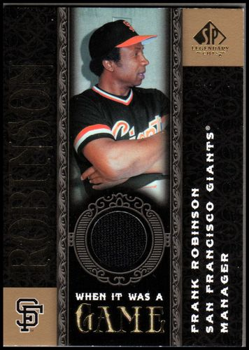 Photo of 2007 SP Legendary Cuts When it Was a Game Memorabilia #FR Frank Robinson