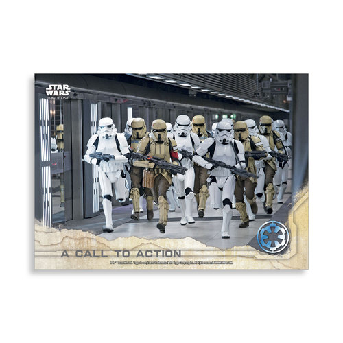A Call to Action 2016 Star Wars Rogue One Series One Base Poster - # to 99