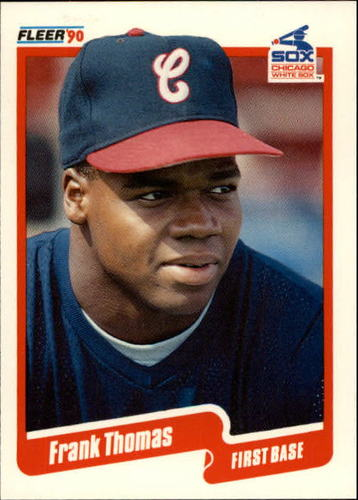Photo of 1990 Fleer Update #87 Frank Thomas Rookie Card -- Hall of Fame Class of 2014