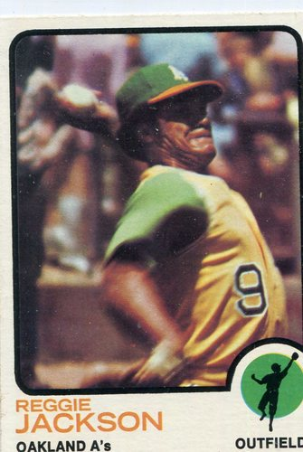 Photo of 1973 Topps #255 Reggie Jackson-- Hall of Famer