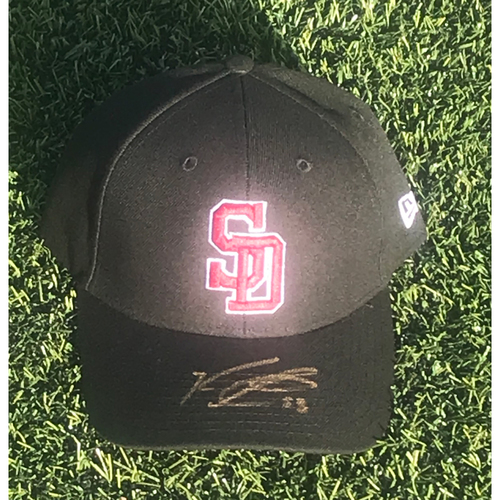 Photo of Ken Giles Autographed and Game-Used Stoneman Douglas Eagles Cap
