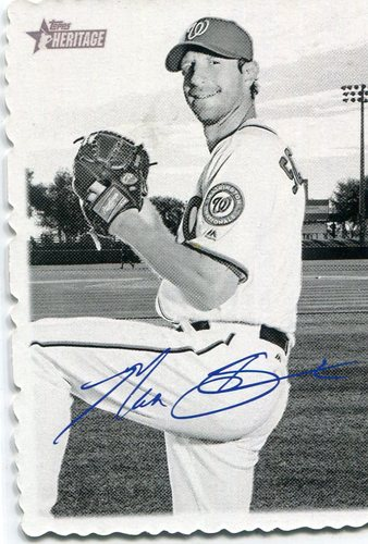 Photo of 2018 Topps Heritage '69 Topps Deckle Edge #28 Max Scherzer   Facsimile autograph