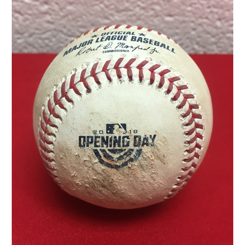 Photo of Game-Used Baseball: Stephen Strasburg Strikes Out Yoenis Cespedes