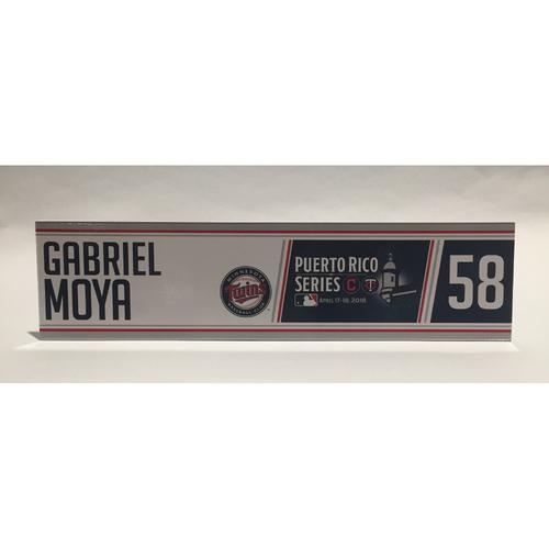 Photo of 2018 Puerto Rico Series - Gabriel Moya Game-Used Locker Name Plate