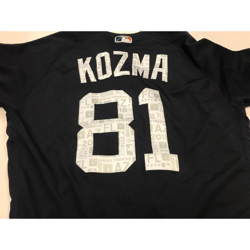 Photo of Team-Issued Pete Kozma Road Spring Training Jersey
