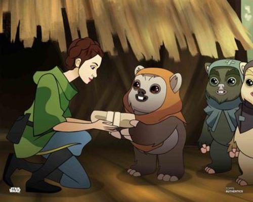Princess Leia Organa and Ewoks