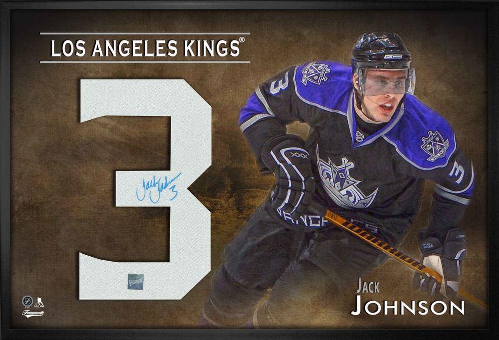 Jack Johnson Signed Jersey Number Framed Print Kings Black