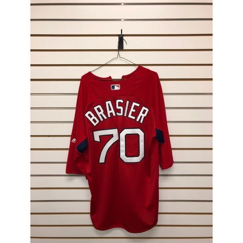 Photo of Ryan Brasier Team-Issued Home Batting Practice Jersey