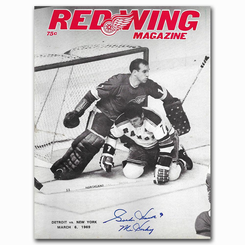 Gordie Howe Autographed Detroit Red Wings 1969 Game Program