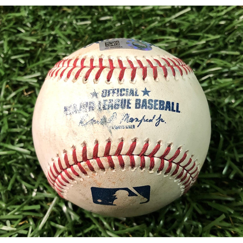 Photo of Game Used Baseball: Jacob Waguespack strikes out Austin Meadows - MLB DEBUT & #2 CAREER STRIKEOUT - May 27, 2019 v TOR