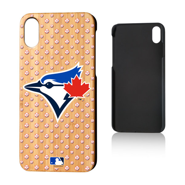 Toronto Blue Jays Bamboo Wood Baller iPhone 10 Case by Keyscaper