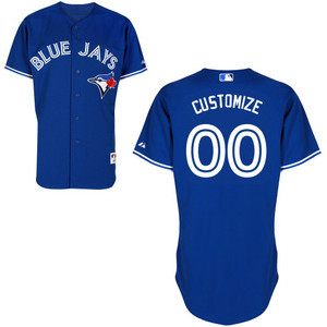 Toronto Blue Jays Customizable Authentic Collection Alternate Jersey by Majestic