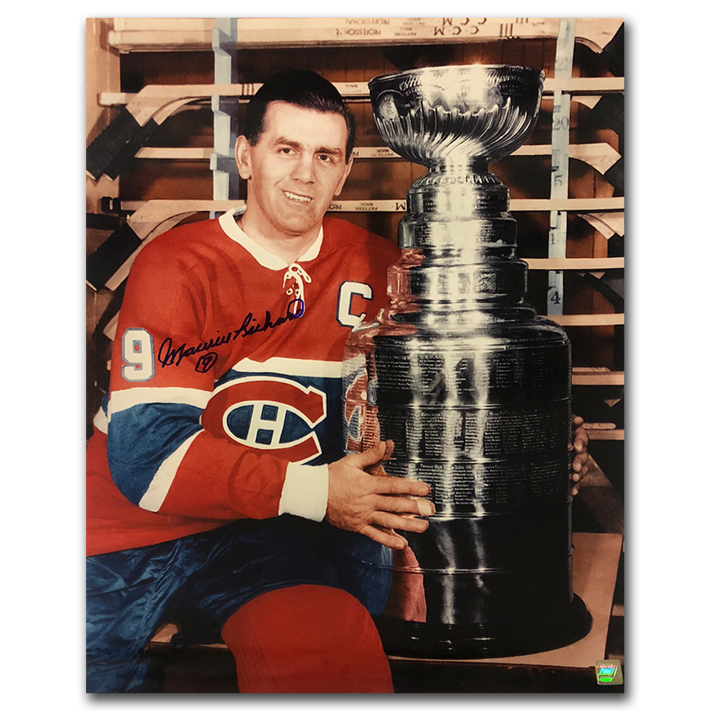 Maurice Richard Autographed Montreal Canadiens 16X20 Photo