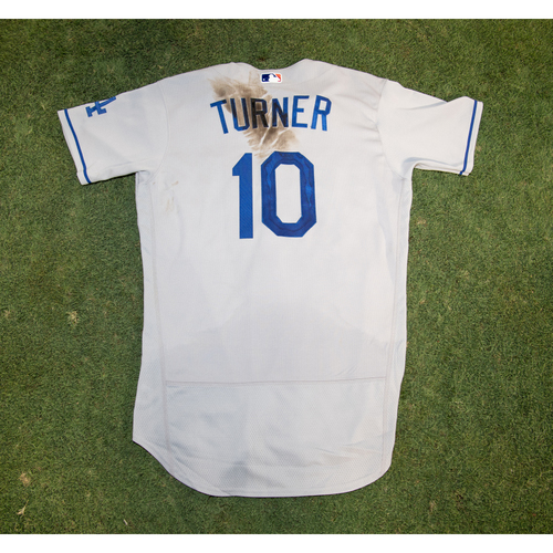 Justin Turner Game-Used Jersey from 8/14/20 Game vs. LAA - Size 42