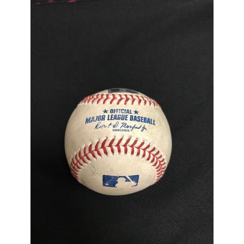 Photo of Game-Used Home Run Baseball: 8/1/20 Los Angeles Dodgers at Arizona Diamondbacks, Edwin Rios Homered Off of Luke Weaver, Scored Joc Pederson