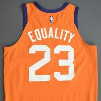 Cameron Johnson - Phoenix Suns - Game-Worn Statement Edition Jersey - 2019-20 NBA Season Restart with Social Justice Message