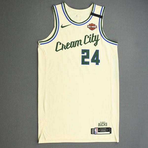 Image of Pat Connaughton - Milwaukee Bucks - Game-Issued City Edition Jersey - 2019-20 NBA Season Restart with Social Justice Message