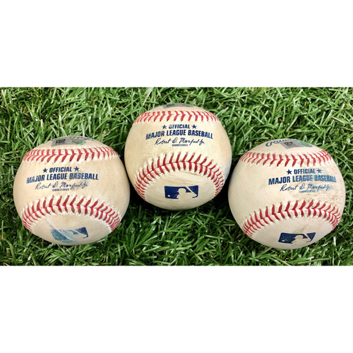 Photo of Game Used Baseball Package: Bobby Dalbec, Xander Bogaerts and Kevin Plawecki - Bobby Dalbec Rookie Season - September 11, 2020 v BOS