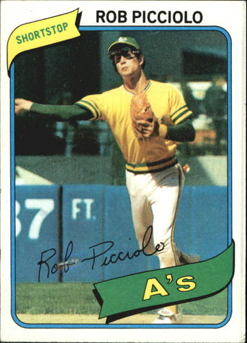 Photo of 1980 Topps #158 Rob Picciolo DP