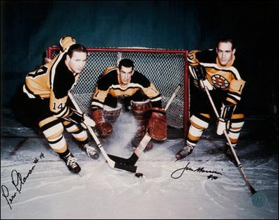 FERN FLAMAN & JIM MORRISON Boston Bruins Dual SIGNED 11x14 Photo