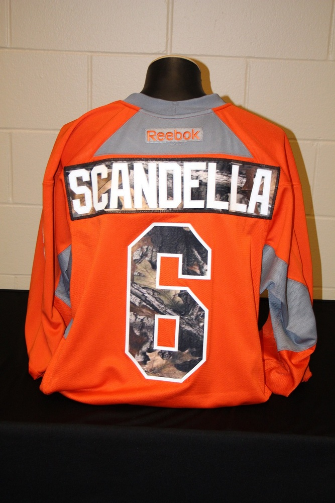quality design 6aa72 7e495 MN Wild #6 Marco Scandella Signed, Player Worn Blaze Orange ...