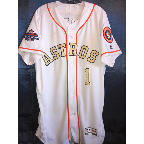 Photo of 2018 World Series Champions Ring Ceremony - Carlos Correa Game-Used Jersey