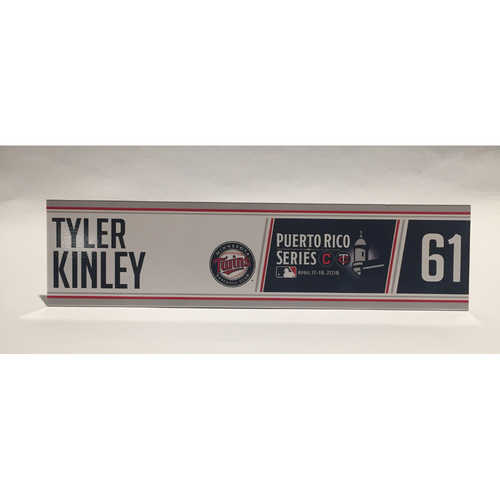 Photo of 2018 Puerto Rico Series - Tyler Kinley Game-Used Locker Name Plate