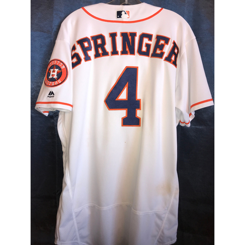 Photo of 2018 Game-Used George Springer Home Jersey: Size - 46