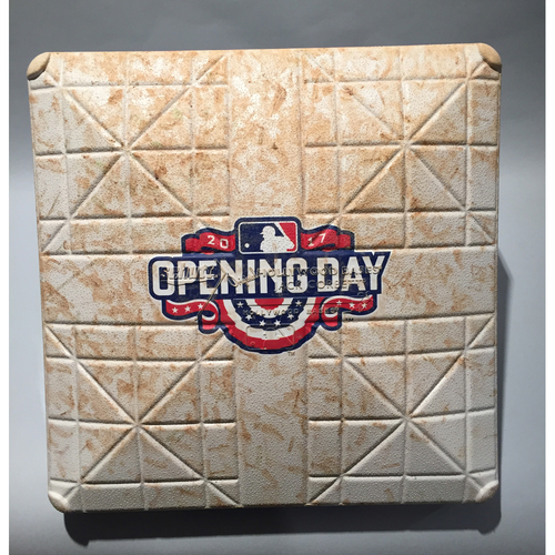 2017 Philadelphia Phillies Opening Day - 1st Base Used In Innings 7-9 - 4/07/17