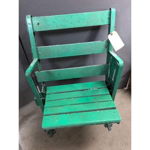 Photo of Single Green Seat Removed from Old Comiskey Park (Slats 1 and 3 replaced)  - PICK UP ONLY