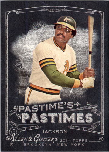 Photo of 2014 Topps Allen and Ginter The Pastime's Pastime #PPRJ Reggie Jackson
