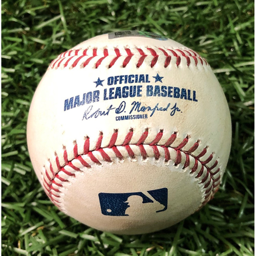 Photo of Game Used Baseball: Hunter Wood strikes out Cavan Biggio - May 27, 2019 v TOR