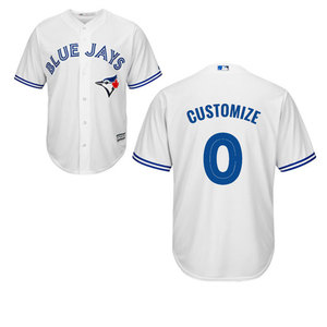 Toronto Blue Jays Men's Customizable Replica Home Jersey by Majestic