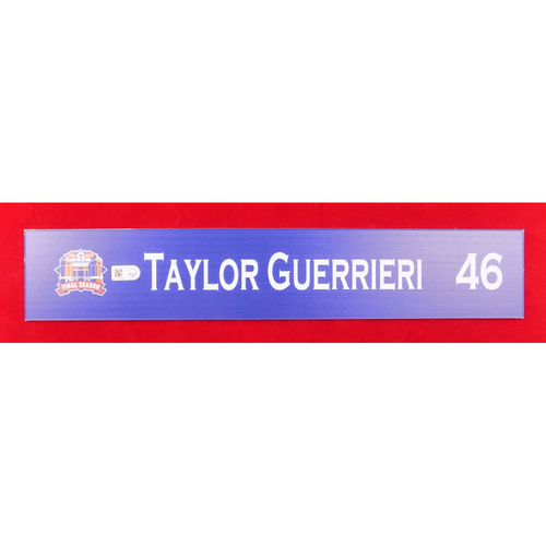 Final Season Game-Used Locker Tag - Taylor Guerrieri - 9/13/19 vs OAK