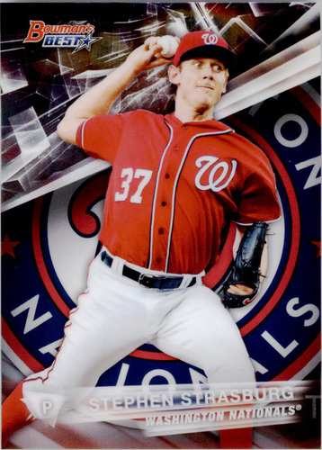 Photo of 2016 Bowman's Best #52 Stephen Strasburg