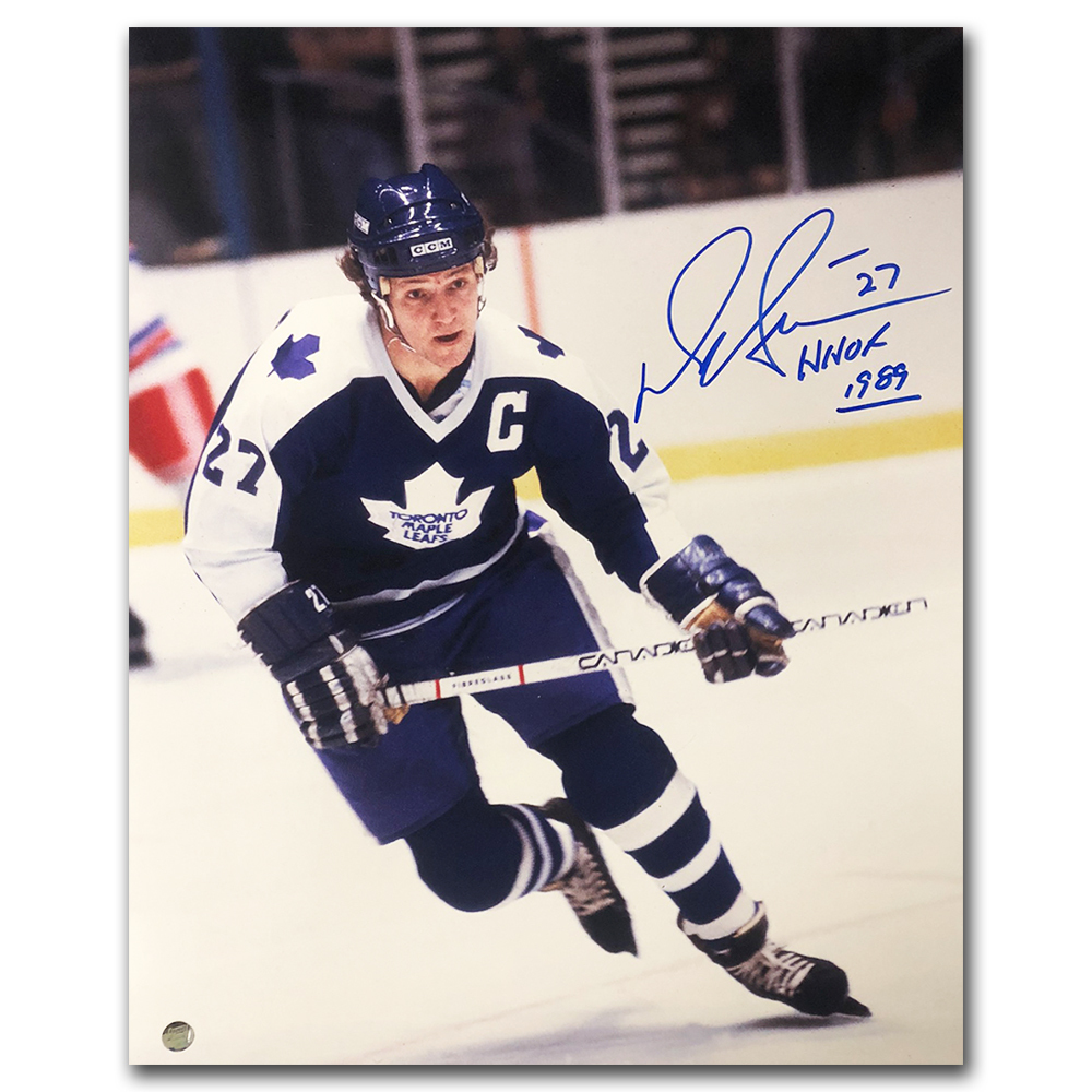 Darryl Sittler Autographed Toronto Maple Leafs 16X20 Photo w/HHOF 1989 Inscription