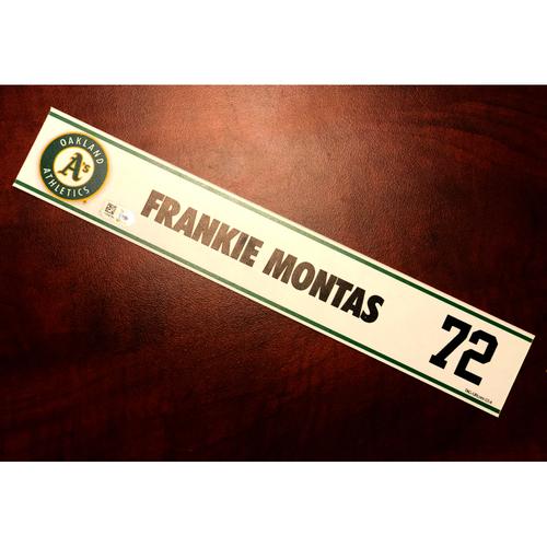 Photo of Game-Used 2017 Spring Training Locker Nameplate - Frankie Montas