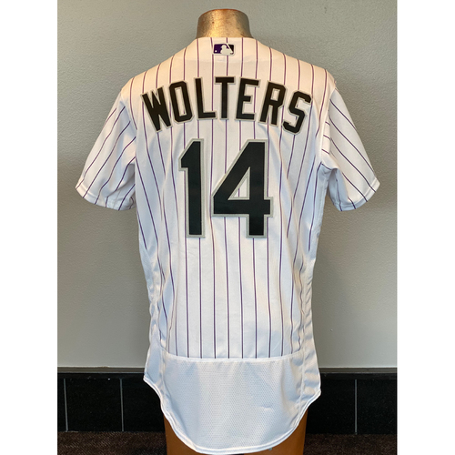 Photo of Colorado Rockies Team-Issued 2020 Home Opener Jersey: Tony Wolters