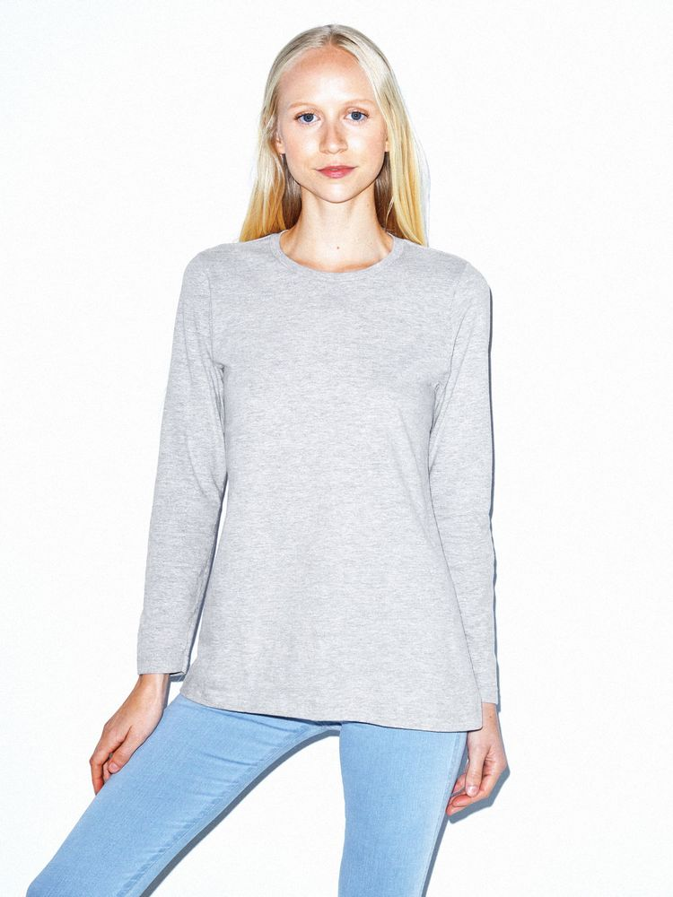 Photo of American Apparel Fine Jersey Classic Long Sleeve T-Shirt
