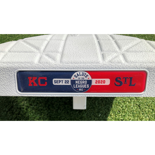 Salute to the Negro Leagues Game-Used Base: 2nd Base Innings 1-5 (STL @ KC 9/22/20)