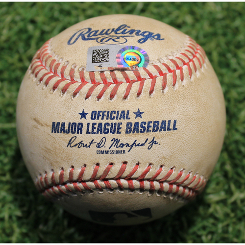 Photo of Game-Used Baseball: Chad Kuhl 307th Career Strikeout (PIT @ KC 9/13/20)