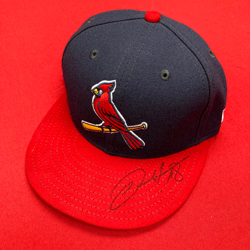 Photo of Carlos Martinez Autographed Team-Issued Alternate Cap (Size 6 7/8)